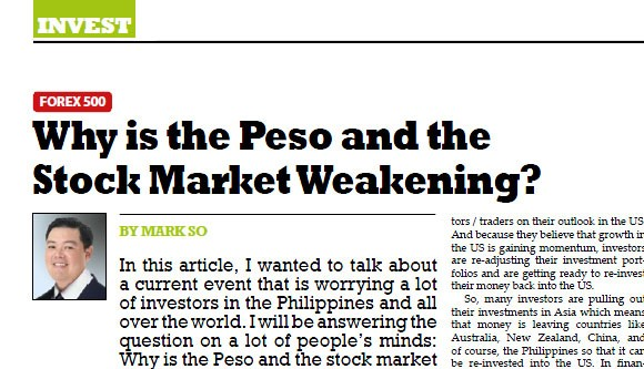 Why is the Peso and the Stock Market Weakening?
